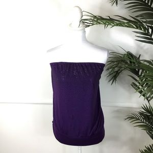Lane Bryant Purple Strapless Stretchy Top 14/16